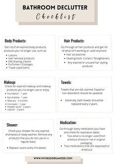 Bathroom under sink orgaization + bonus FREE declutter checklist #checklist #declutter #bathroom Under Bathroom Sink Storage, Bathroom Drawer Organization, Bathroom Drawers, Sink Organizer, Under Sink, Storage Organization, Declutter, How To Remove, House