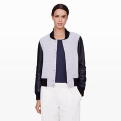 Regan Varsity Jacket - Jackets and Vests Women at Club Monaco