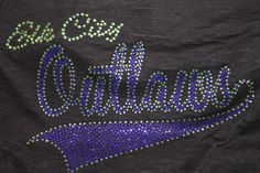 Custom Made Bling Sports ShirtsDone in colors to by SpunkySparkles, $26.00