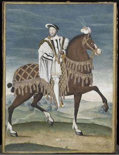 Anonyme, Portrait équestre de François Ier (1494-1547), roi de France, musée Condé