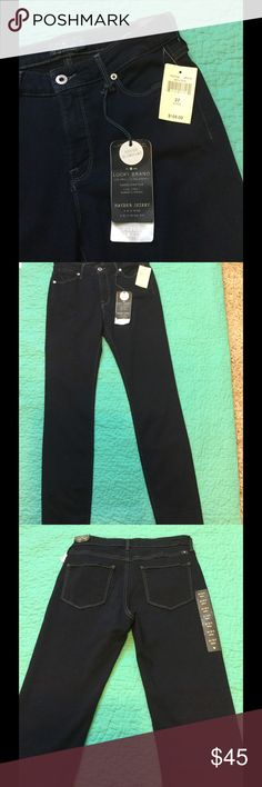 Brand New Lucky Brand Hayden Skinny Midrise Jeans Very Flattering Mid Rise Super Slimming Fit Lucky Brand Jeans.  The Revolutionary Fit and Fabric Innovation Combines to Flatter and Shape Your Figure for a Streamlined Appearance and Perfect Fit 29' Length Ankle Lucky Brand Jeans Straight Leg