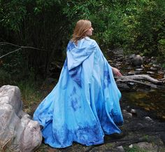 Blue Fairy Princess Cape by FaireMiscellany on Etsy