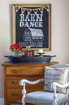 The North End Loft: Summer Barn Dance Chalkboard Art