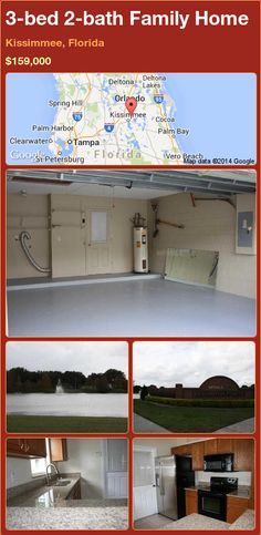 3-bed 2-bath Family Home in Kissimmee, Florida ►$159,000 #PropertyForSale #RealEstate #Florida http://florida-magic.com/properties/80577-family-home-for-sale-in-kissimmee-florida-with-3-bedroom-2-bathroom