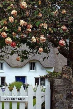 Cottage House Plans, Cottage Living, Cozy Cottage, Cottage Homes, Cottage Style, Rose Garden Design, Woodlands Cottage, Destinations, Stone Cottages