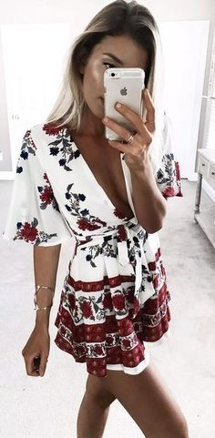 Cute Floral Playsuit Source
