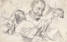 Adolf Von Menzel (1815 - 1905) pencil sketches.