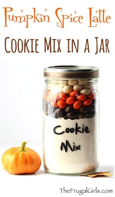 Pumpkin Spice Latte Cookies Recipe! ~ from TheFrugalGirls.com ~ if you happen to need another excuse to enjoy the flavors of your favorite drink, you'll LOVE this Easy Cake Mix Cookie Recipe!  It also makes an adorable Gift in a Jar! #recipes #masonjars #pumpkinspicelatte #thefrugalgirls