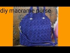 How to make macrame purse # design 19 - bridalshower Macrame Purse, Macrame Knots, Micro Macrame, Gift Wrapping Tutorial, Crochet Clothes, Crochet Hats, Bag Pattern Free, Macrame Design, Diy Purse