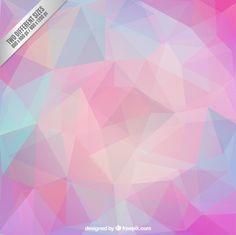 Polygonal background in pastel tones