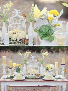 Many brides are looking to incorporate vintage shabby chic wedding ideas into their ceremony, reception and all aspects of their wedding celebrations Chic Wedding, Spring Wedding, Wedding Reception, Birdcage Wedding, Reception Food, Birdcage Decor, Wedding Desert, Wedding Vendors, Wedding Themes