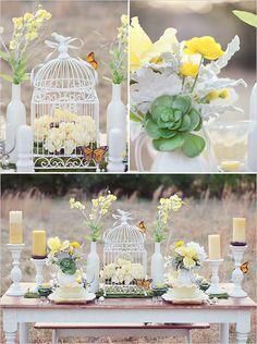 yellow and white wedding ideas