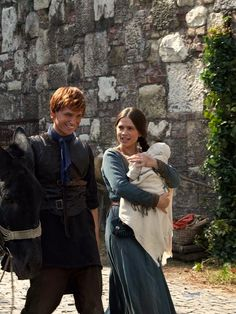 Eddie Redmayne as Jack Jackson and Hayley Atwell as Aliena in The Pillars of the Earth (TV Mini-Series, 2010).