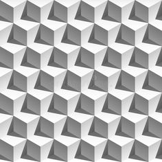 Photo about 3D effect white cubes with shadows modern pattern. Vector. Illustration of graphic, style, shadows - 66388436