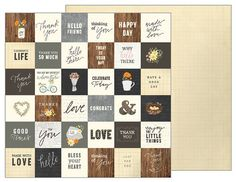 Pebbles - Simple Life Collection - 12 x 12 Double Sided Paper - Simple Greetings