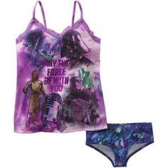 Star Wars Women's License Cami & Panty 2 Piece Sleepwear Set, Size: Medium, Purple