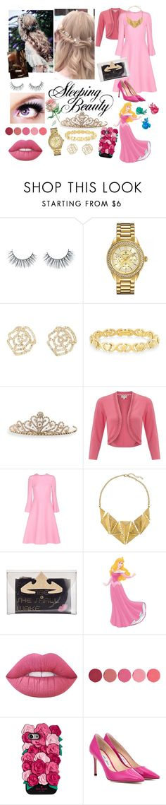"""""""Aurora"""" by allyssister ❤ liked on Polyvore featuring Unicorn Lashes, Bulova, Charlotte Russe, Signature Gold, BillyTheTree, Monsoon, Valentino, 8, Danielle Nicole and WALL"""