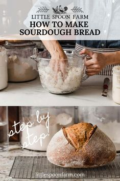Beginners Sourdough Bread Recipe - A delicious and simple sourdough bread recipe that you can make overnight with minimal effort! Perfect for beginners with a step-by-step guide. You'll love how easy it is to bake sourdough! Sourdough Bread Starter, Sourdough Recipes, Beginners Bread Recipe, Recipes For Beginners, Artisan Bread Recipes, How To Make Bread, Bread Baking, Cooking Recipes, King Arthur