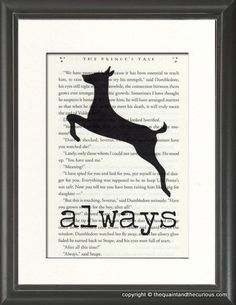 Harry Potter Art Print Decor - Always on Potter Book Page: