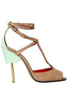 Givenchy 120mm Marzia Suede  & Leather Sandals