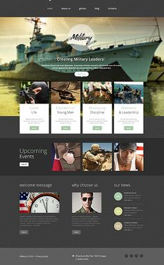 Template 52651 - Military Rank  Responsive Website Template