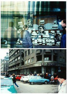 Bucuresti, 1990: o librărie, o coadă de o sută de metri și o carte de Monica Lovinescu. Timeline Photos, Romania, Times Square, Country, Retro, Travel, Bucharest, Viajes, Rural Area