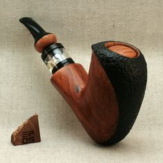 Little Bastard is handmade Algerian briar e-pipe equipped with aSpire Nautilus X atomizer and powered by one 18500 battery cell Rustic Light Fixtures, Rustic Lighting, E Pipe, Vape Design, Briar Pipe, Rustic Baby, Modern Rustic, Vintage Accessories, Rustic Decor
