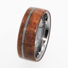 Tungsten Ring / Tungsten Wood Wedding Band / by jewelrybyjohan