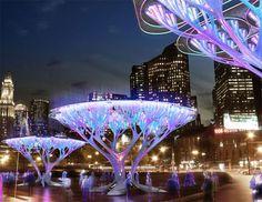 Glowing Mushroom trees