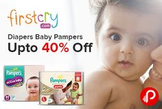 FirstCry is offering Upto 40% off on #Pampers #Baby #Diapers.   http://www.paisebachaoindia.com/diapers-baby-pampers/