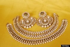 Traditional Earrings with Pearl & Ruby & a pair of Designer Kundan & Pearl Anklets comes together which can be something best for all your Traditional, Party & Festive occasions