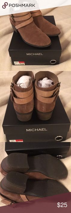 """Brown boots Michael """"Quinn"""" size 8 1/2 brown suede boots. Only worn a few times. Super cute! Michael Shoes Ankle Boots & Booties"""