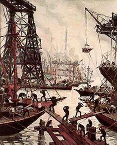 Actividad en La Boca, Benito Quinquela Martín (Buenos Aires, 1 de marzo de 1890-28 de enero de 1977), fue un pintor argentino. Hijo de una madre desconocida que lo abandonó en la Casa de Niños Expósitos, siete años después fue adoptado por la familia Chinchella, dueños de una carbonería. Quinquela Martín es considerado el pintor de puertos y es uno de los pintores más populares del país.