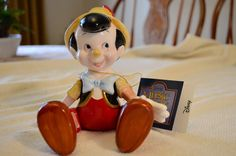Disney's Musical Pinocchio with Movable Arms and Legs Made in Sri Lanka by Schmid Plays The Entertainer by DJsVintageCache on Etsy