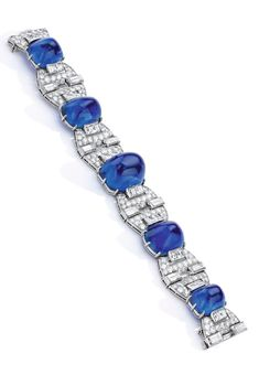 Van Cleef & Arpels-Art Deco Sapphire/Diamond Bracelet