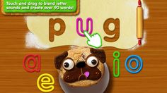 Sesame Street Alphabet Kitchen by Sesame Street ($2.99) a vocabulary-building app, which will help your child practice early literacy skills by blending letter sounds to create words in Cookie Monster's alphabet kitchen!   *** 2015 Children's Technology Review: Editor's Choice Award ***  Sesame Street Alphabet Kitchen turns learning vowels and new vocabulary words into a fun-filled cookie making experience.