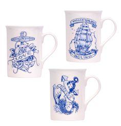 ladylucksboutique:    We just love this 'homeward bound' china mug set. It'll be making it to the LLB kitchen soon!