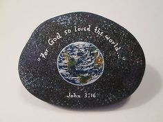 Earth-Planet-and-Bible-Verse-hand-painted-on-a-rock-by-Ann-Kelly