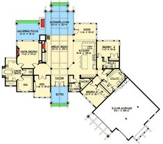 Plan 23284jd Luxury Craftsman With Front To Back Views Craftsman Floor Planscraftsman Houseshome Floor Plansmountain