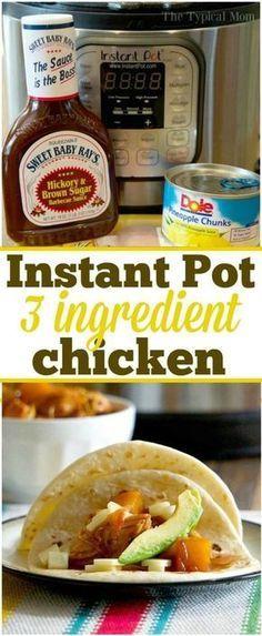Instant Pot Hawaiian Shredded Chicken -- only 3 ingredients