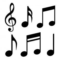 Vector illustration - Buy this stock vector and explore similar vectors at Adobe Stock Music Notes Art, Song Notes, Free Printable Artwork, Blank Sheet Music, Rosen Tattoos, Music Symbols, Music Party, Wallpaper Iphone Disney, Scrapbook Embellishments