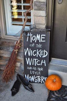 Halloween porch/front door sign.