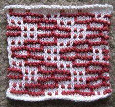 Sliding Bricks- knitting stitch