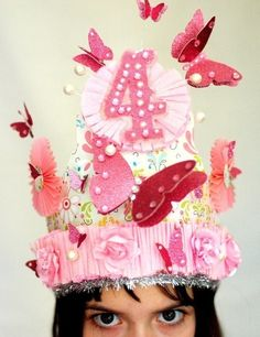 Little Girl Garden Party BIrthday Crown by Joosycardco on Etsy