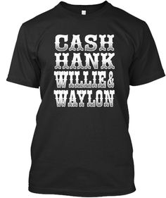 Country Legends Black T-Shirt Front