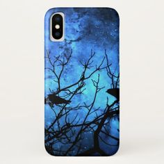 Attempted Murder: Crows Blue Skies iPhone X Case - tap to personalize and get yours Crow Silhouette, Raven Bird, Crows Ravens, Unique Iphone Cases, Star Sky, Blue Skies, Blue Sapphire, Apple Iphone, Crows