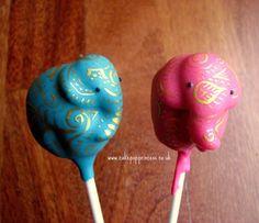 omgggg #elephant cake pops