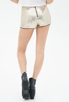 Sequined Shorts - Women - 2000138610 - Forever 21 UK