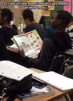 School Reading #Class, #Menu