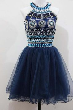 Sexy Prom Dress,Tulle Prom Dress,Short Homecoming Dress,Beaded Prom